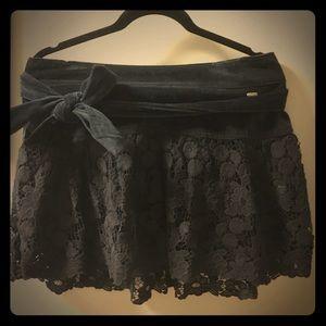 Gilly Hicks velvet skirt